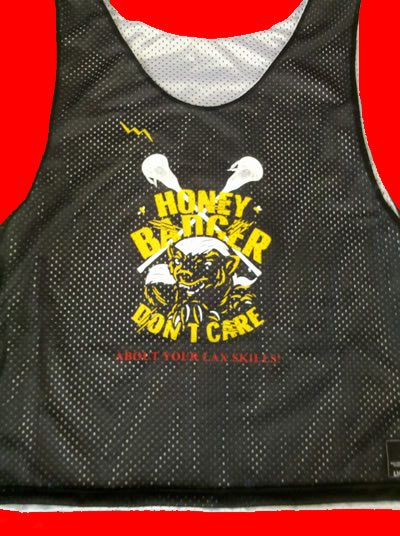 honey badgers black lacrosse pinnies