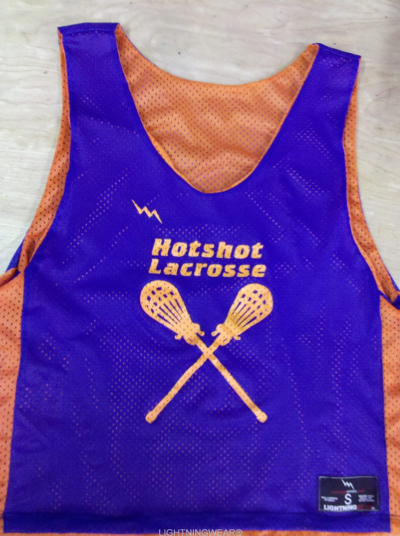 hotshot lacrosse pinnies
