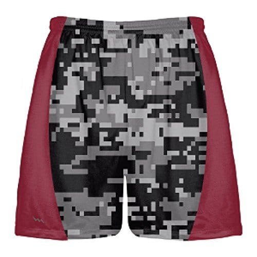 Black-Digital-Camouflage-Lacrosse-Shorts-Maroon-Side-Panels-Custom-Camouflage-Lacrosse-Shorts-B078NWSGJW