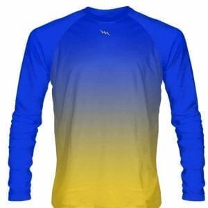 Blue-Gold-Fade-Ombre-Long-Sleeve-Shirts-Basketball-Long-Sleeve-Shirt-Adult-Youth-Blue-Gold-Basketball-Shirts-Blue-B078869MWC