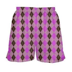 Girls-Lacrosse-Shorts-Pink-Argyle-B0795M2SJH