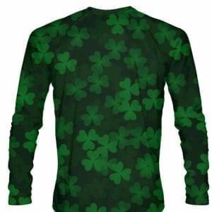 Ireland-Shirt-Long-Sleeve-repeat-Shamrock-Shirt-Long-Sleeved-Custom-Irish-Pride-Shirt-Repeating-Shamrocks-Shirt-B07891RFM1-2