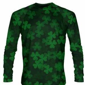 Ireland-Shirt-Long-Sleeve-repeat-Shamrock-Shirt-Long-Sleeved-Custom-Irish-Pride-Shirt-Repeating-Shamrocks-Shirt-B07891RFM1