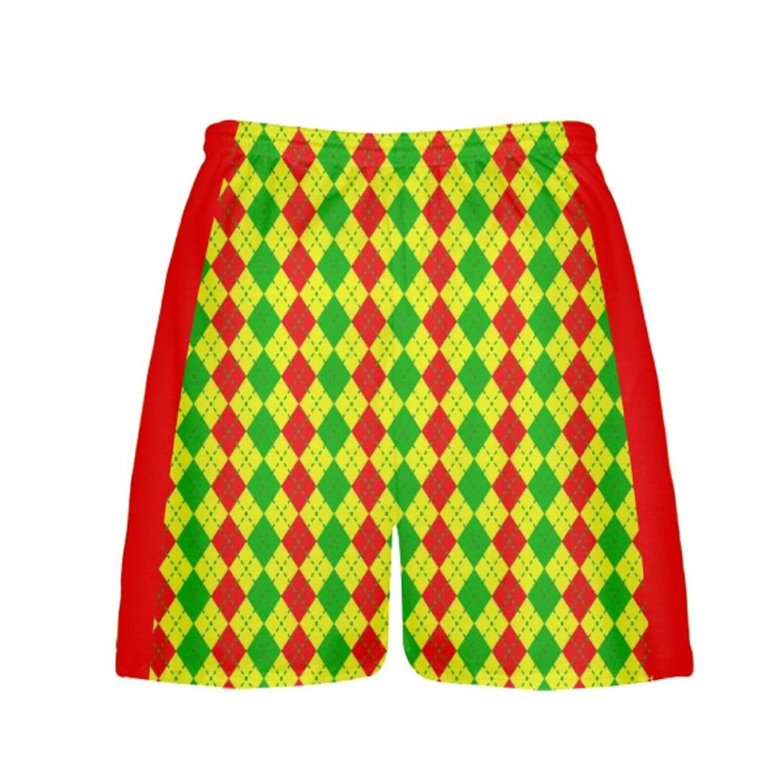 LightningWear-Argyle-Christmas-Shorts-Green-Red-Argyle-Lacrosse-Shorts-Athletic-Shorts-B077Y2S14Z-2
