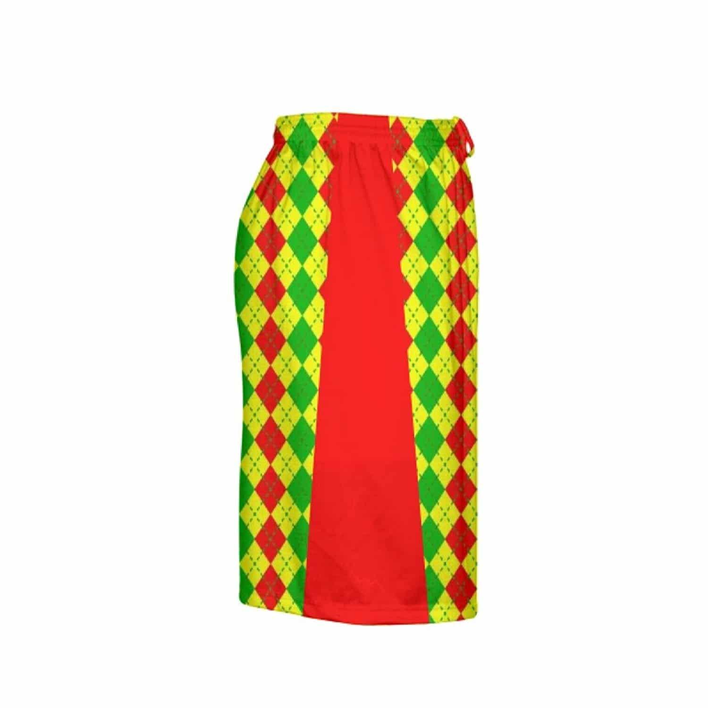 LightningWear-Argyle-Christmas-Shorts-Green-Red-Argyle-Lacrosse-Shorts-Athletic-Shorts-B077Y2S14Z-3