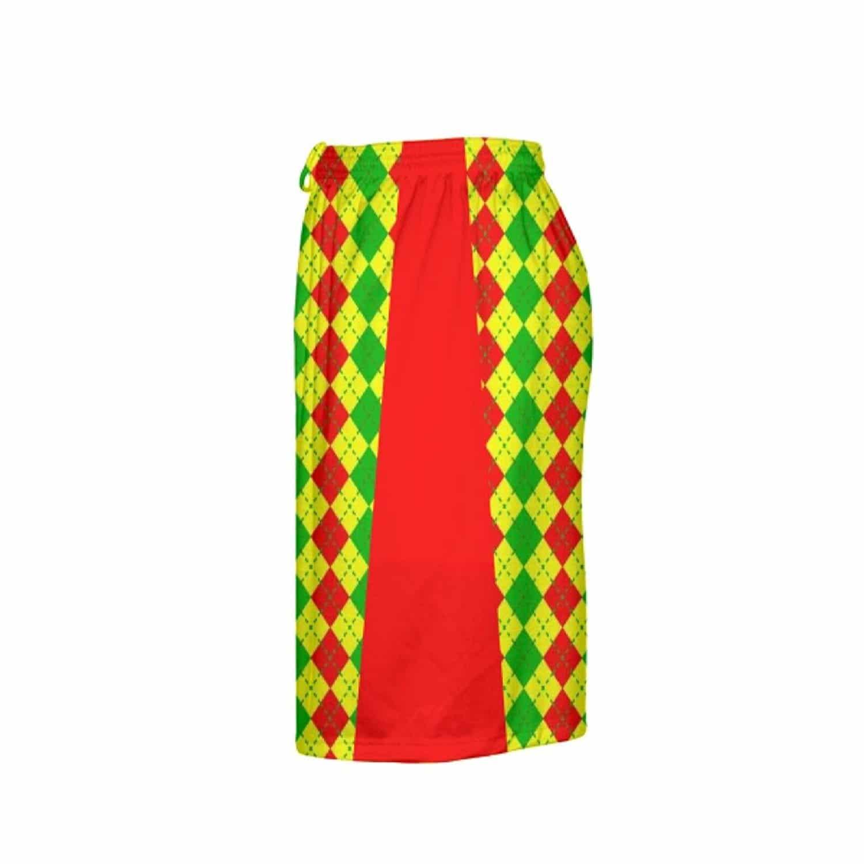 LightningWear-Argyle-Christmas-Shorts-Green-Red-Argyle-Lacrosse-Shorts-Athletic-Shorts-B077Y2S14Z-4