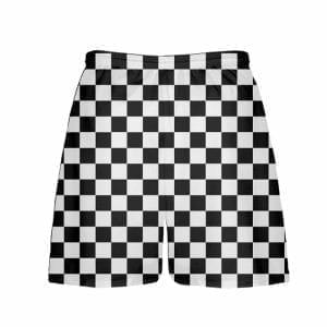 LightningWear-Black-Checker-Board-Shorts-Black-Checkerboard-Lacrosse-Shorts-Athletic-Shorts-B077XYZ1ZS-2