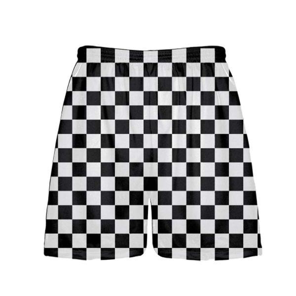 LightningWear-Black-Checker-Board-Shorts-Black-Checkerboard-Lacrosse-Shorts-Athletic-Shorts-B077XYZ1ZS