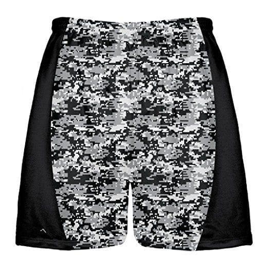 LightningWear-Black-Digital-Camouflage-Lacrosse-Shorts-Kids-Lacrosse-Shorts-Mens-Lacrosse-Shorts-B078N86S9R
