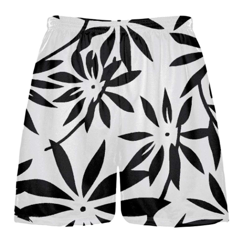 LightningWear-Black-Hawaiian-Lacrosse-Shorts-Black-Hawaiian-Basketball-Shorts-B078VWW8D3