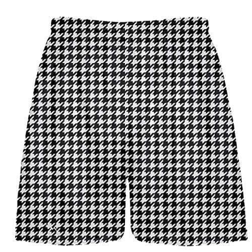 LightningWear-Black-Houndstooth-Shorts-Sublimated-Shorts-Boy-Lacrosse-Short-Mens-Lacrosse-Shorts-B078NG1MGD