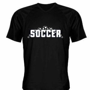 LightningWear Black Soccer Jerseys V Neck