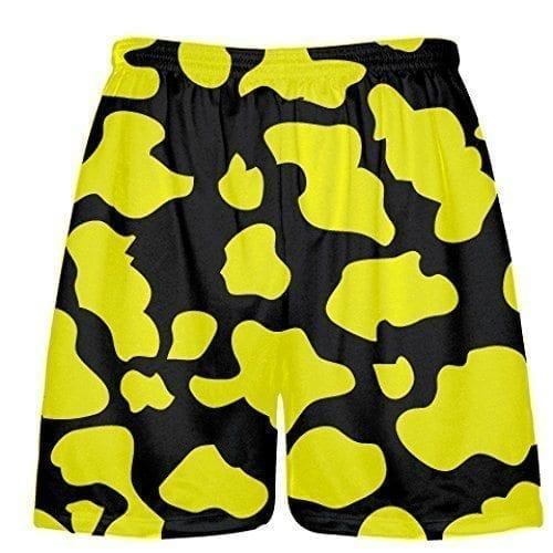 LightningWear-Black-Yellow-Cow-Print-Shorts-Cow-Shorts-B079B8JGL3