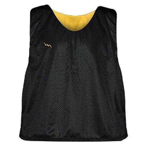 c05cbd282e7 LightningWear Black and Gold Soccer Pinnies - Youth Sports Pinnies ...