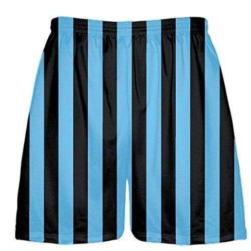 LightningWear-Black-and-Light-Blue-Stripe-Lacrosse-Shorts-B078M6DWG8