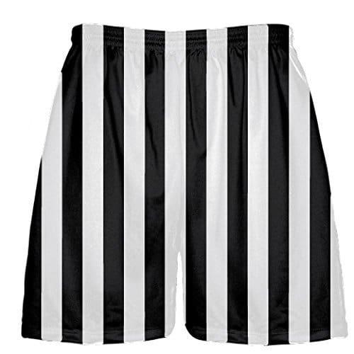 LightningWear-Black-and-White-Striped-Lacrosse-Shorts-B078MJ9127