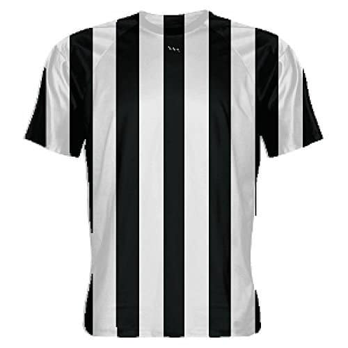 LightningWear-Black-and-White-Striped-Soccer-Jerseys-B078NJTCRX