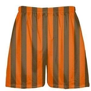 LightningWear Brown and Orange Lacrosse Shorts