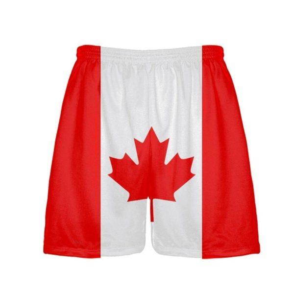 LightningWear-Canada-Flag-Shorts-Athletic-Shorts-Canadian-Flag-Shorts-B0785SH1Y7
