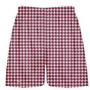 LightningWear-Cardinal-Red-Houndstooth-Shorts-Sublimated-Shorts-Kids-Shorts-B078N6RVD3