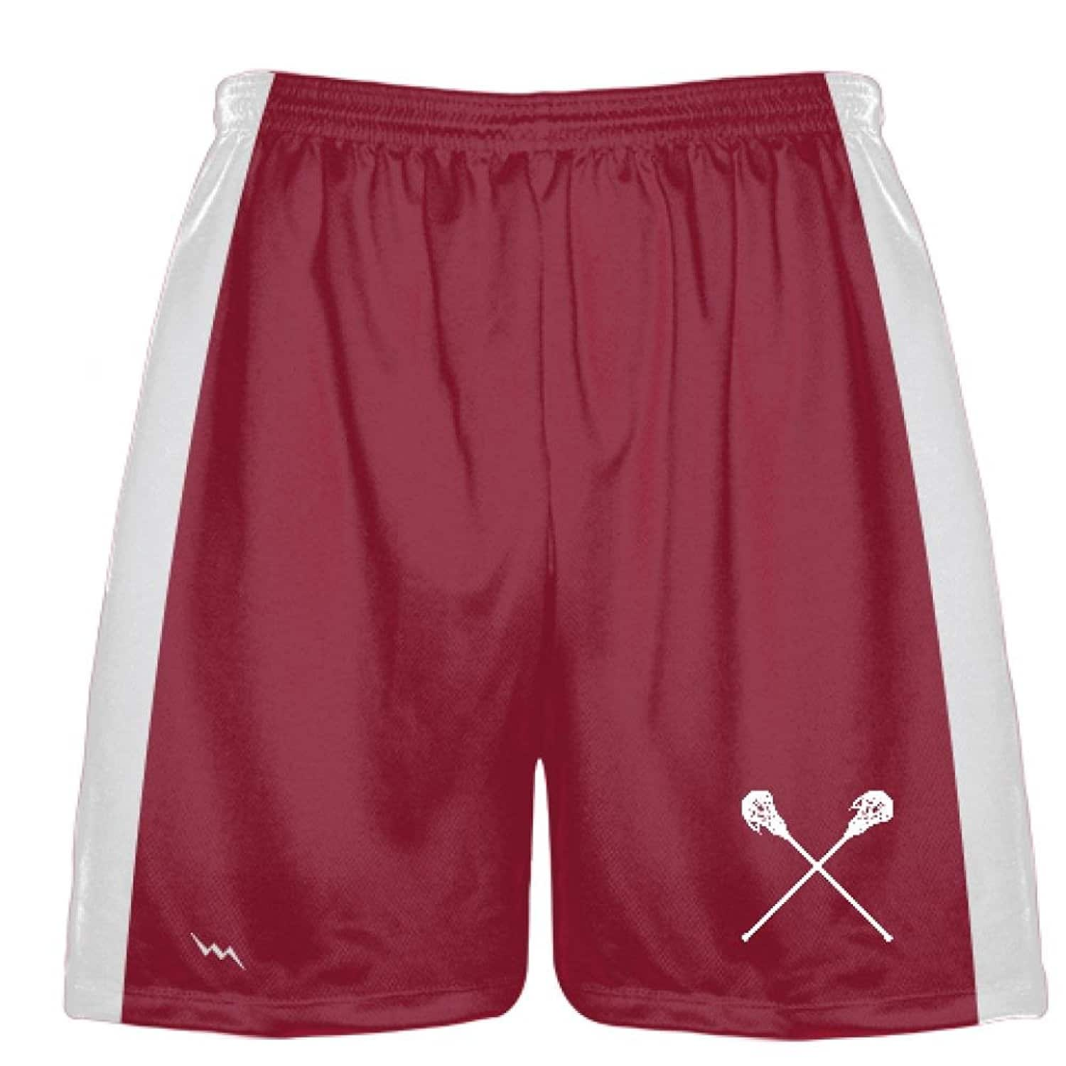 LightningWear-Cardinal-Red-Lacrosse-Short-Sublimated-Shorts-For-Lacrosse-Boys-Athletic-Shorts-B078NGC11Y