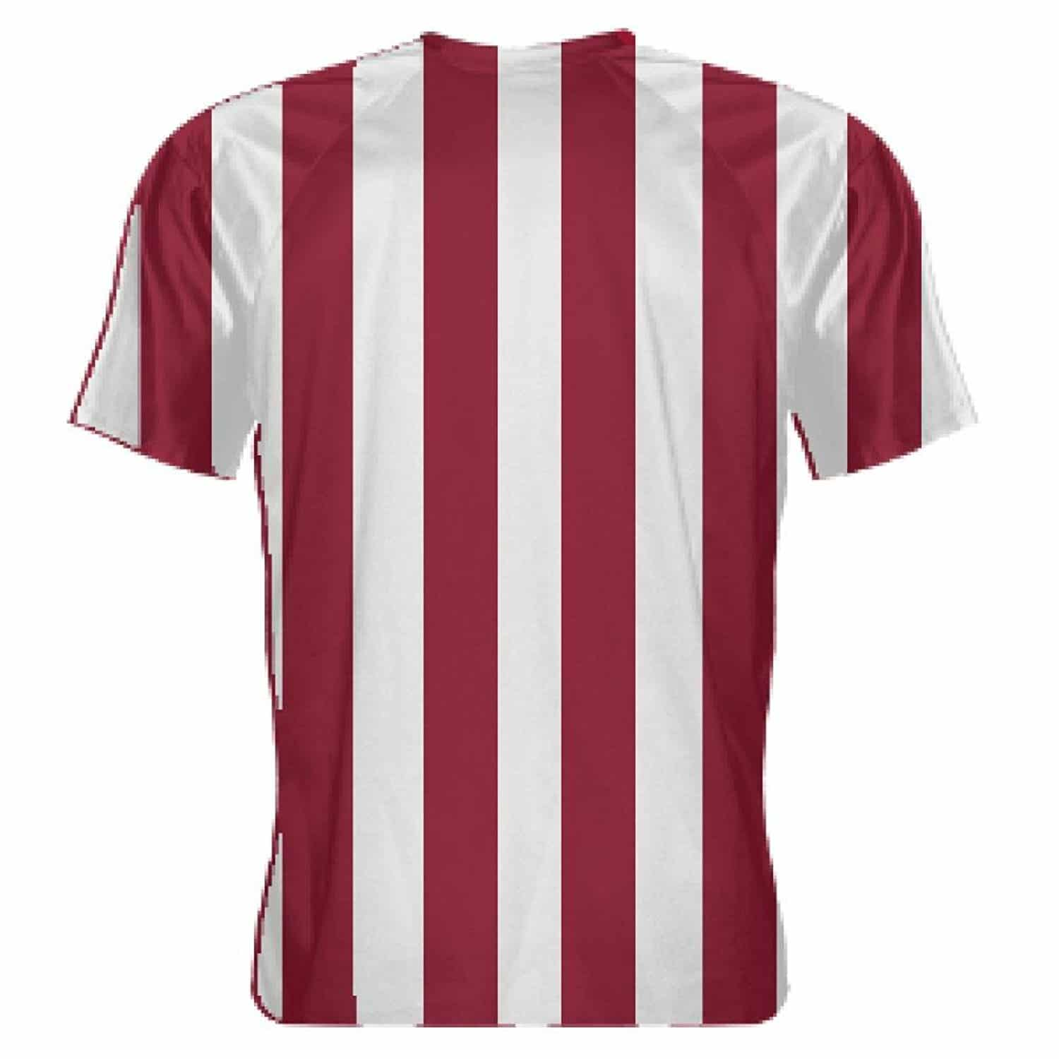 LightningWear-Cardinal-Red-and-White-Soccer-Jerseys-Striped-Soccer-Shirts-B078NGV8GD-2