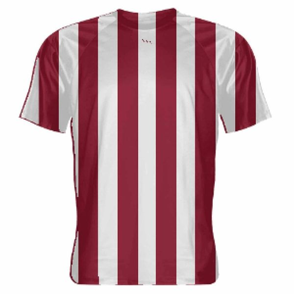 8e1e9aea3fae LightningWear Cardinal Red and White Soccer Jerseys - Striped ...