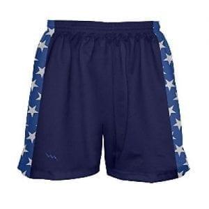 LightningWear-Girls-Navy-Blue-and-Stars-Lacrosse-Shorts-B0795P5Q1X