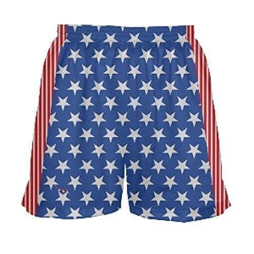 LightningWear-Girls-Stars-and-Stripes-Lacrosse-Short-B0795PSHLC