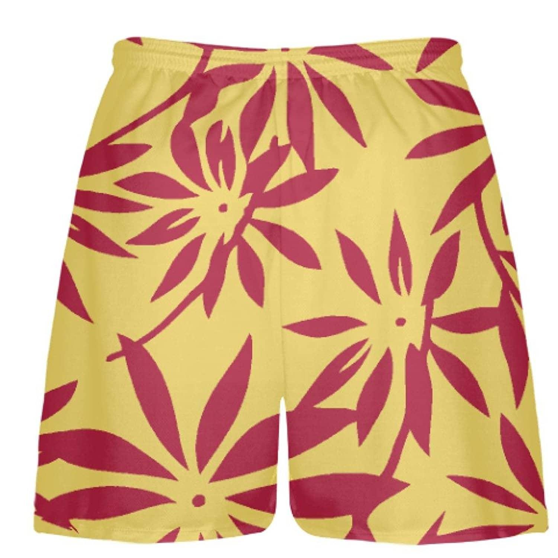 LightningWear-Gold-Red-Hawaiian-Lacrosse-Shorts-Hawaiian-Basketball-Shorts-B078VXY846-2