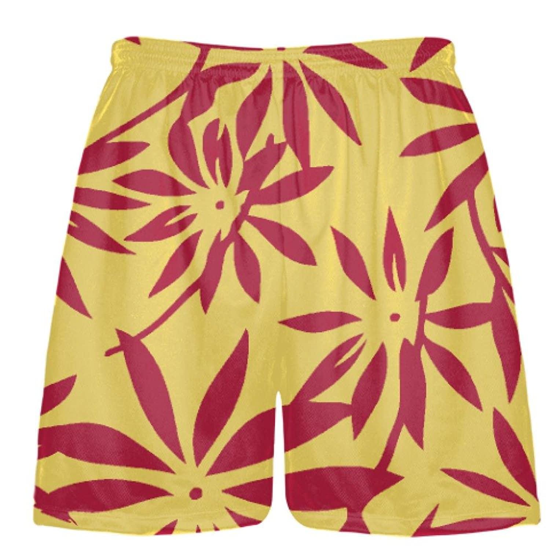 LightningWear-Gold-Red-Hawaiian-Lacrosse-Shorts-Hawaiian-Basketball-Shorts-B078VXY846