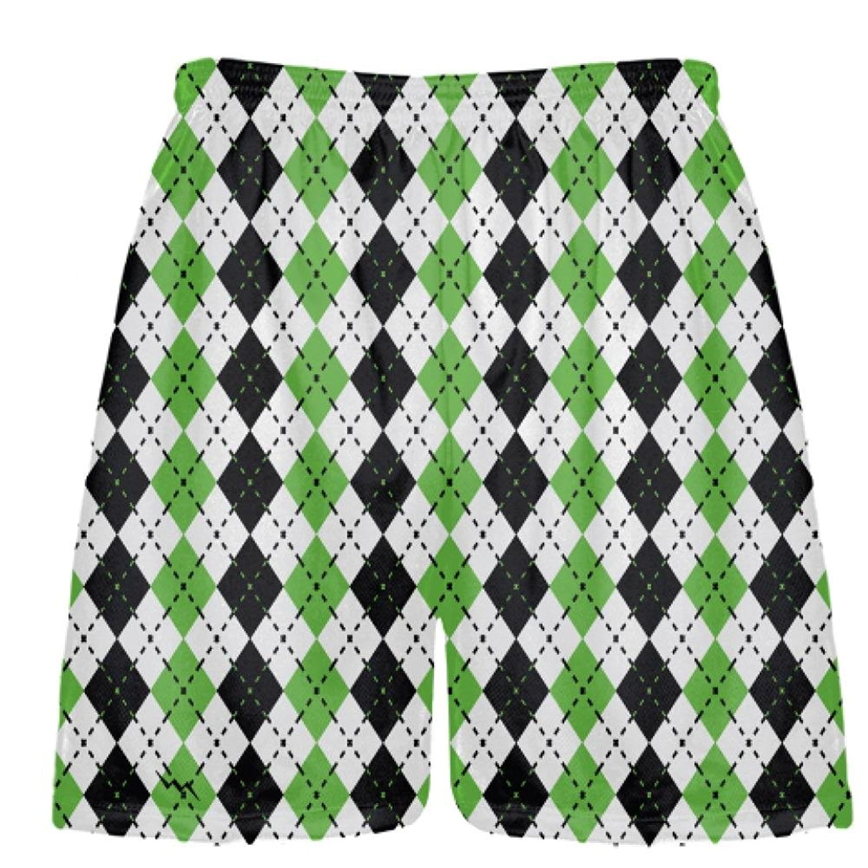 LightningWear-Green-Argyle-Lacrosse-Shorts-B078M9N4VZ