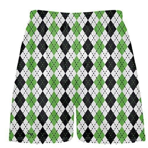 LightningWear-Green-Argyle-Lacrosse-Shorts-B078MHXW17