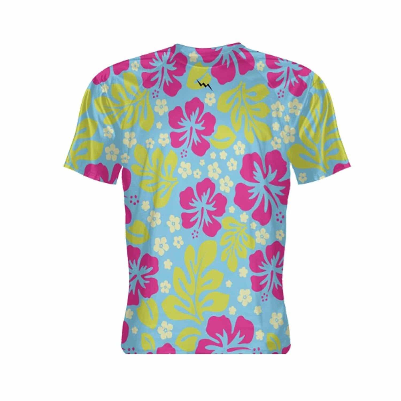 Lightningwear hawaiian print short sleeve shirt hawaiian for Lsu hawaiian print shirts
