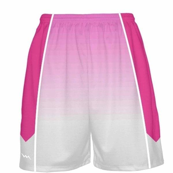 size 40 5c70b dd318 LightningWear Hot Pink Basketball Shorts - Ombre Fade Basketball ...