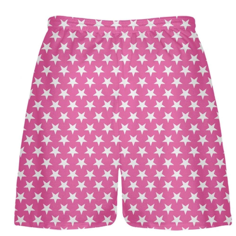 LightningWear-Hot-Pink-White-Stars-Shorts-Athletic-Shorts-Sublimated-Shorts-B078T715V6-2