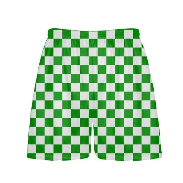 LightningWear-Kelly-Green-Checker-Board-Shorts-Green-Checkerboard-Lacrosse-Shorts-Athletic-Shorts-B077Y3WF45