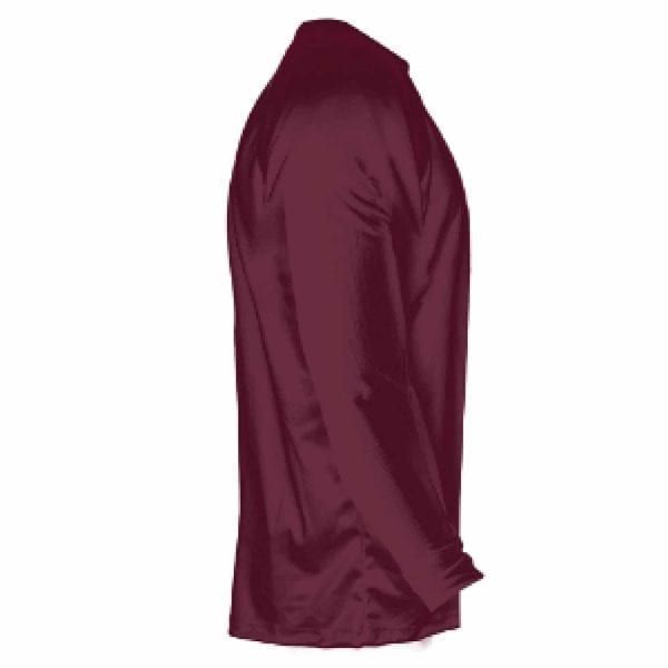 Lightningwear Maroon Gold Fade Ombre Long Sleeve Shirts Basketball