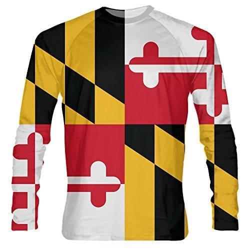 LightningWear-Maryland-Flag-Long-Sleeve-Shirts-B076ZVCKRH