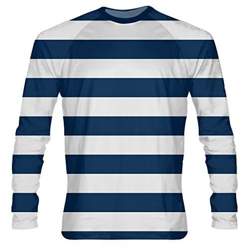 2e7279226e LightningWear Navy Blue Striped Long Sleeve Shirts