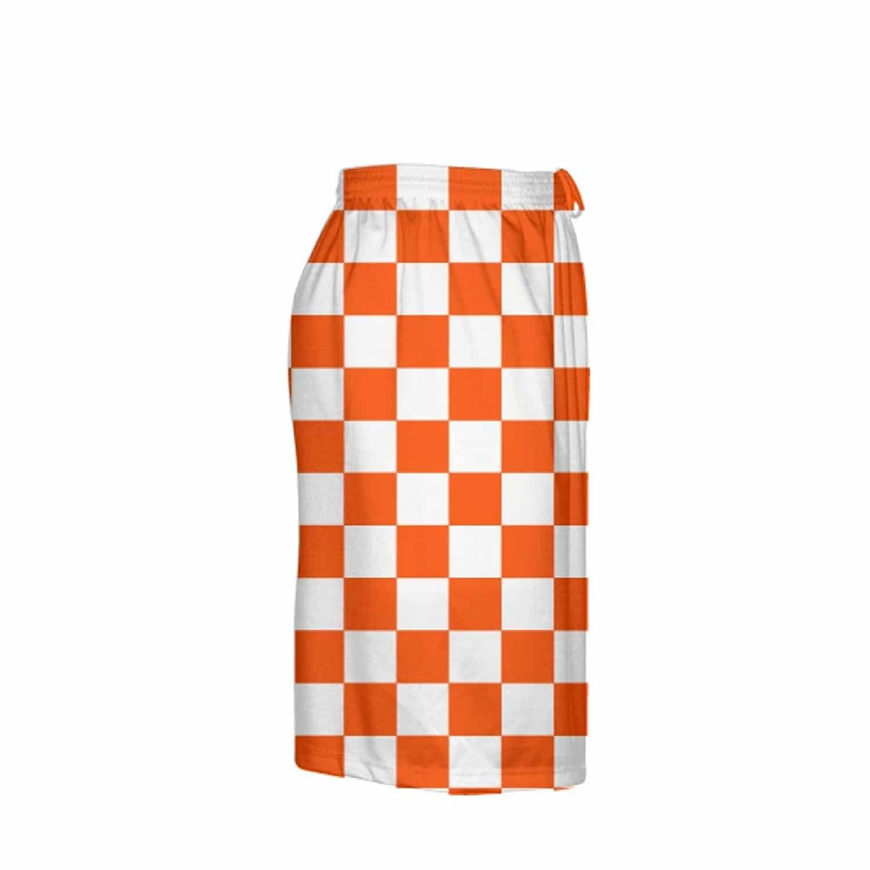 LightningWear-Orange-Checker-Board-Shorts-Orange-Checkerboard-Lacrosse-Shorts-Athletic-Shorts-B077Y3BMVH-3