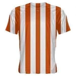 f587e60c8 LightningWear Orange and White Striped Soccer Jerseys - Soccer Shirts