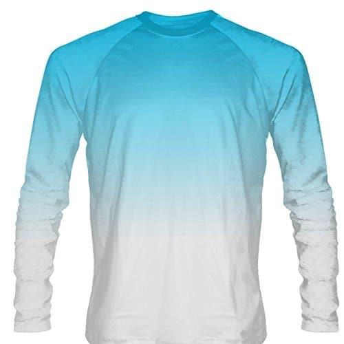 d93709cd845 LightningWear Powder Blue Dip Dye Long Sleeve Lacrosse Shirts ...