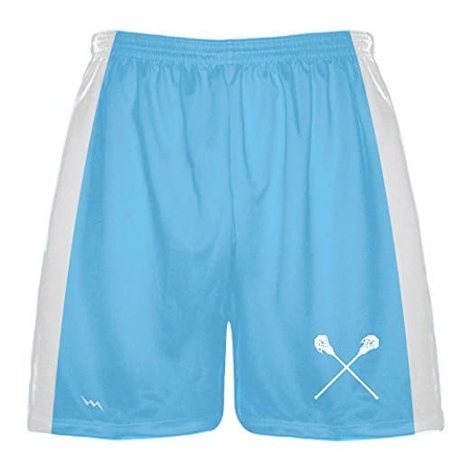 LightningWear Powder Blue Lacrosse Short - Lacrosse Shorts Light Blue