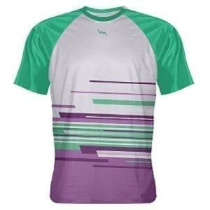 LightningWear Purple Teal Abstract Custom T Shirts