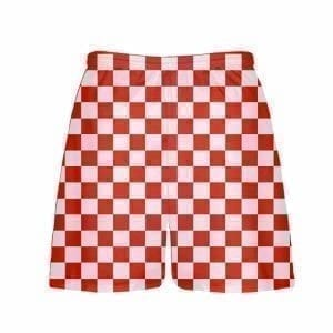 LightningWear-Red-Checker-Board-Shorts-Red-Checkerboard-Lacrosse-Shorts-Athletic-Shorts-B077XYRD78-2