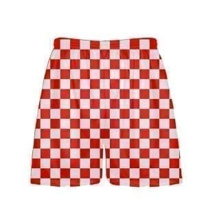 LightningWear-Red-Checker-Board-Shorts-Red-Checkerboard-Lacrosse-Shorts-Athletic-Shorts-B077XYRD78