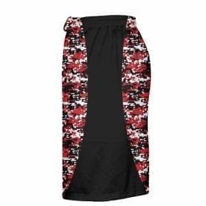 LightningWear Red Digital Camo Lax Shorts - Boys Camouflage Lacrosse Shorts