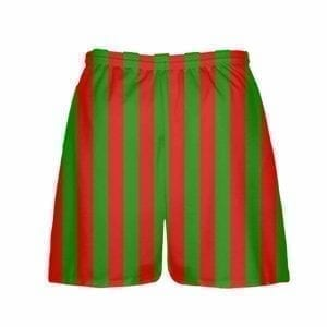 LightningWear-Red-Green-Stripe-Christmas-Shorts-Green-Red-Striped-Lacrosse-Shorts-Athletic-Shorts-B077Y2GBCW-2