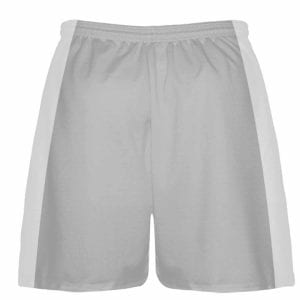 LightningWear Silver Lacrosse Short - Custom Made Team Lacrosse Shorts - Boys Lacrosse Bottoms - Athletic Shorts